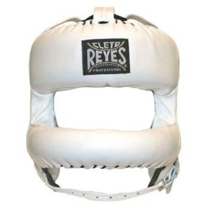 Cleto Reyes Headguard with Rounded Nylon Bar – White