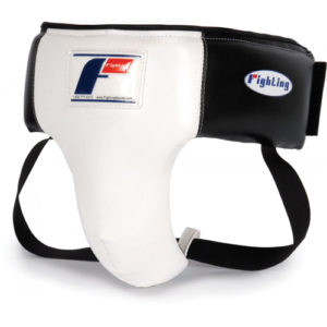 Fighting Sports Deluxe Groin Protector – White/Black