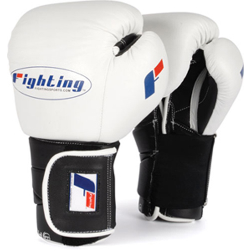 Fighting Sports Tri-Tech® Hook-and-Loop Training Gloves – White