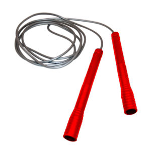 Ampro 'TrickStar' Skipping Rope – Silver/Fluorescent Orange Handle