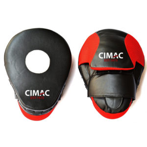 Cimac PU Curved Focus Mitts – Black/Red
