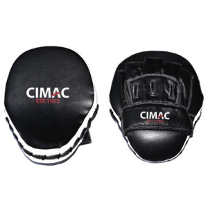 Cimac Professional Leather Focus Mitts – Black/White