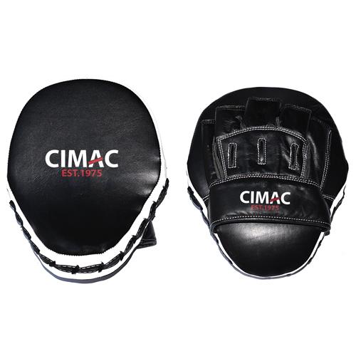 Cimac Professional Leather Focus Mitts – Black/White
