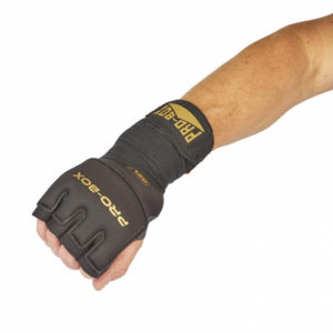 Pro-Box Gel Wrap with Knuckle Protector – Black/Gold