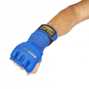 Pro-Box Gel Wrap with Knuckle Protector – Blue/Gold