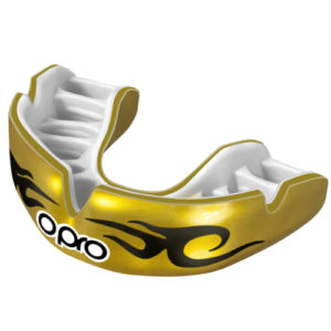 OPRO Power-Fit Bling Mouthguard – Gold/Black Urban