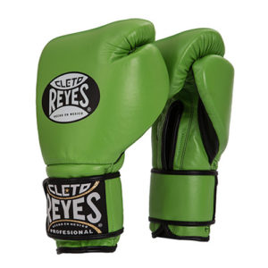 Cleto Reyes Hook and Loop Sparring Gloves –  Citrus Green