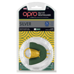 OPRO shield Junior Silver Mouthguard GEN3 – Green/Gold