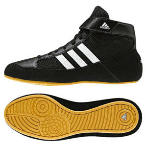 Adidas Junior Havoc K-Lace Wrestling Shoe – Black/White