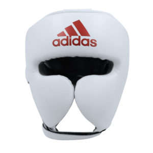 Adidas AdiStar Pro Head Guard – White/Red