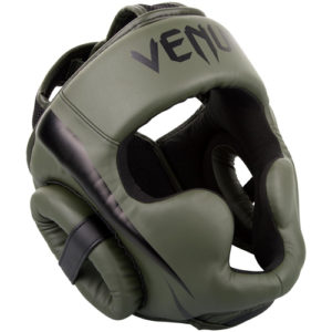 Venum Elite Cheek Headguard – Khaki/Black
