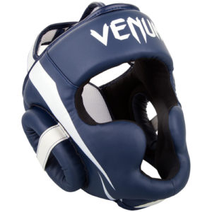 Venum Elite Cheek Headguard – Navy Blue/White