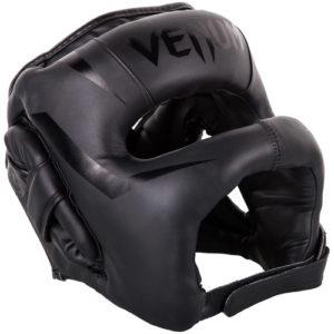 Venum Elite Iron Full Face Bar Headguard – Black/Black