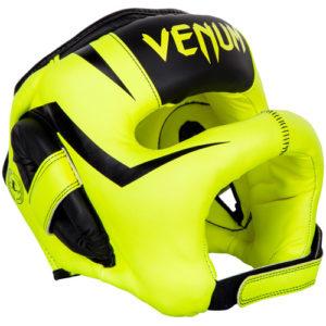 Venum Elite Iron Full Face Bar Headguard – Neon Yellow