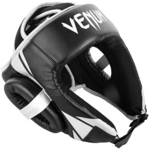 Venum Challenger Open Face Headguard – Black/White