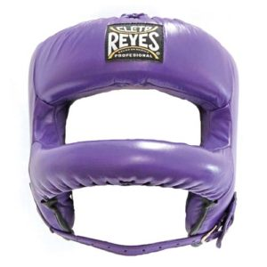 Cleto Reyes Headguard with Rounded Nylon Bar – Purple