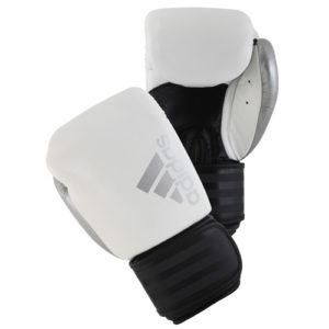 Adidas Hybrid 200 Boxing Gloves – White/Black/Silver
