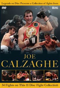 Legends On Disc – Joe Calzaghe 34 Fights 11 Disc's
