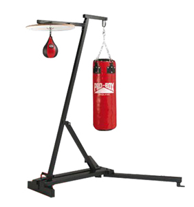 Pro Box Free Standing Punch Bag Frame with Speedball Frame