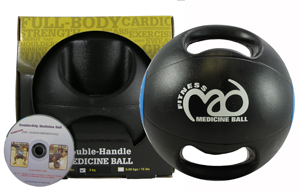 Fitness-Mad Double Grip Medicine Ball & VCD