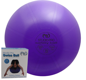 Fitness-Mad Studio Pro 500kg Anti-Burst Swiss Ball and Pump.