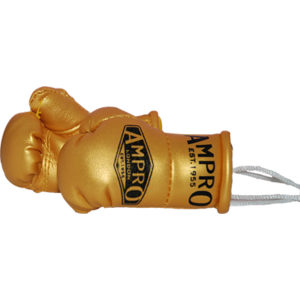 Ampro Mini Hanging Boxing Gloves – Gold