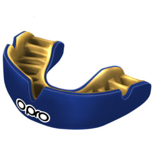 Opro Power-Fit Junior Single Colour Mouthguard – Blue