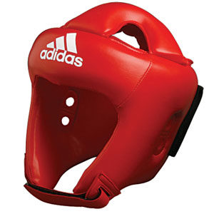 adidas Junior 'ROOKIE' Head Guard – Red