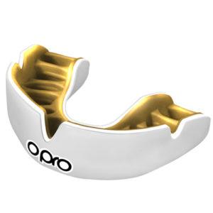 Opro Power-Fit Junior Single Colour Mouthguard – White