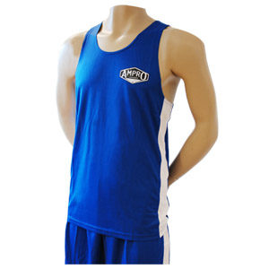 Ampro Boxing Vest and Short Set – Blue – Size Small