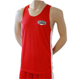 Ampro Boxing Vest and Short Set – Red – Size XXLarge