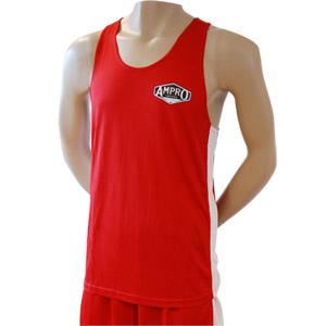Ampro Boxing Vest and Short Set – Red – Size XXLarge