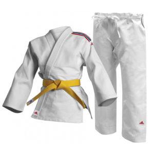 Adidas Club J250 Judo Uniform – White/GB Stripes 9oz