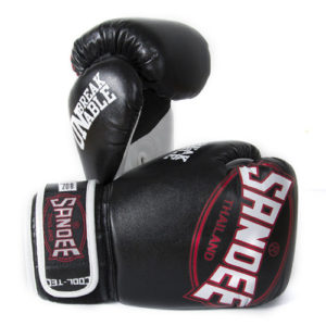 Sandee Junior Cool-Tec Synthetic Leather Boxing Glove – Black/White/Red