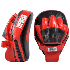 Tuf-Wear Lightweight Curved Hook and Jab Pads – Black/Red