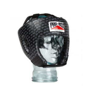 Pro-Box 'Base Spar' Junior PU Headguard – Black Logo