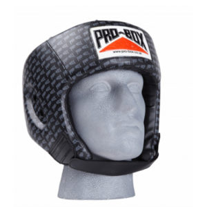 Pro-Box 'Base Spar' PU Sparing Headguard – Black Logo