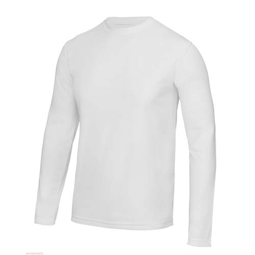 UNBRANDED Long Sleeve Cool Tee – White