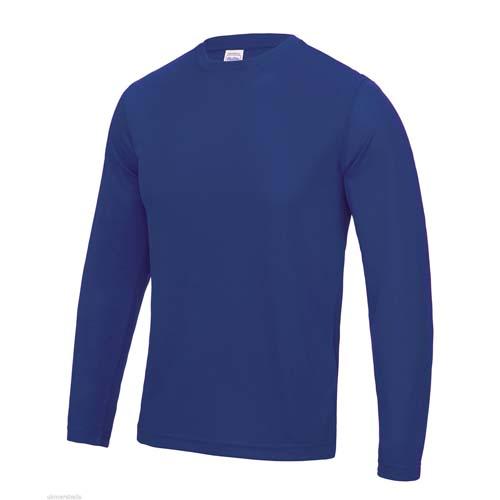 UNBRANDED Long Sleeve Cool Tee – Royal Blue