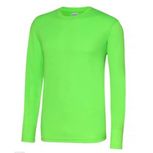 UNBRANDED Long Sleeve Cool Tee – Electric Green