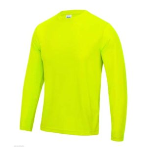 UNBRANDED Long Sleeve Cool Tee – Electric Yellow