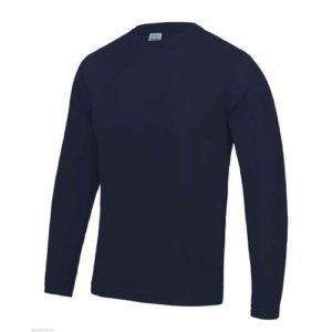 UNBRANDED Long Sleeve Cool Tee – Navy