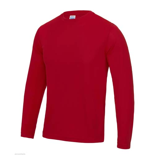 UNBRANDED Long Sleeve Cool Tee – Red