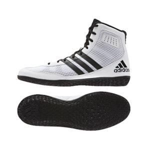 adidas Mat Wizard 3 Wrestling Shoe – White/Black/Silver