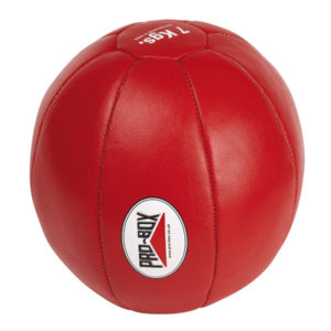 Pro-Box Leather Medicine Ball – 6kg Red