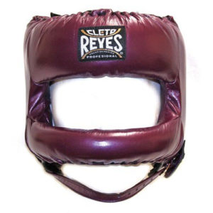 Cleto Reyes Headguard with Rounded Nylon Bar – Metallic Purple