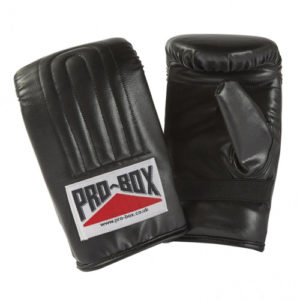 Pro-Box Full Contact Pre-Shaped Punchbag Mitts – Black