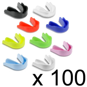 Single Club/School Gumshield Pack of 100 – Classic Mixed Colours