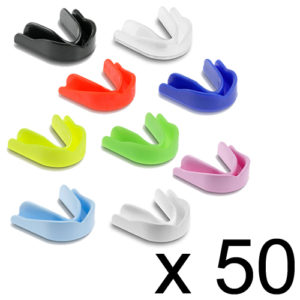 Single Club/School Gumshield Pack of 50 – Classic Mixed Colours