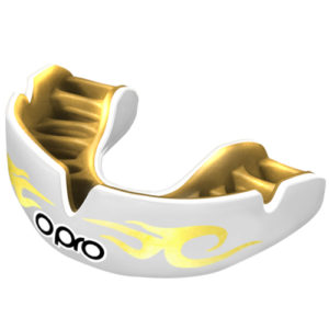 OPRO Power-Fit Bling Mouthguard – White/Gold Urban